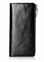 Новинка 2017 - мужской кожаный бумажник из  мягкой лакированной кожи Contacts M1003