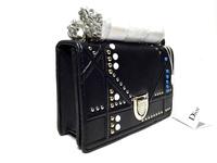 Строгий черный клатч Dior 8870
