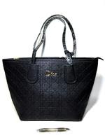 Большая сумка Диор 8888 в бежевом и черном
