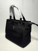 Удобная черная сумка из баллистического нейлона PRADA 6632
