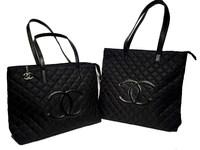 Большая сумка из прошитого нейлона Chanel 508-1
